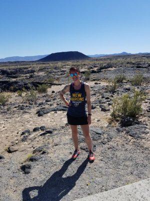 Tabetha Wolfe at Amboy Crater