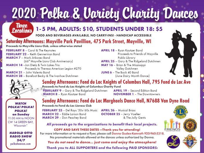 Polka Schedule