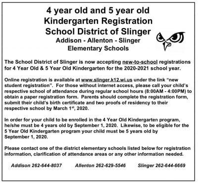 Slinger open enrollment