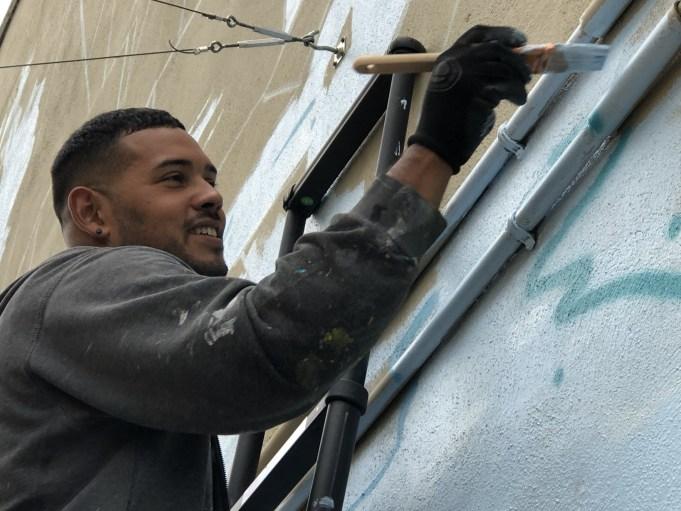 mural artist West Bend