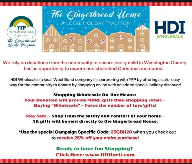 HDI gingerbread house