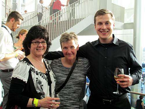 Cris Walters of Washington Filmworks, Zan Collier, and Ken Hagen of Filmworks enjoy the gala.