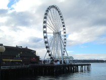 The Seattle Great Wheel opened to the public on June 29, 2012, and is one of the highest observation decks on the west coast.
