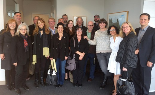 Seattle film community representatives meet with Mayor Ed Murray.