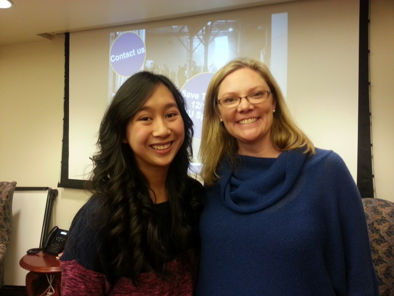 Washington Filmworks Executive Director Amy Lillard with Washington State University Student Mara Almanzor.