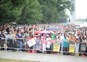 Marchers, undeterred by light rain, marched on Washington Wednesday to renew the dream (NNPA Photo by Freddie Allen).