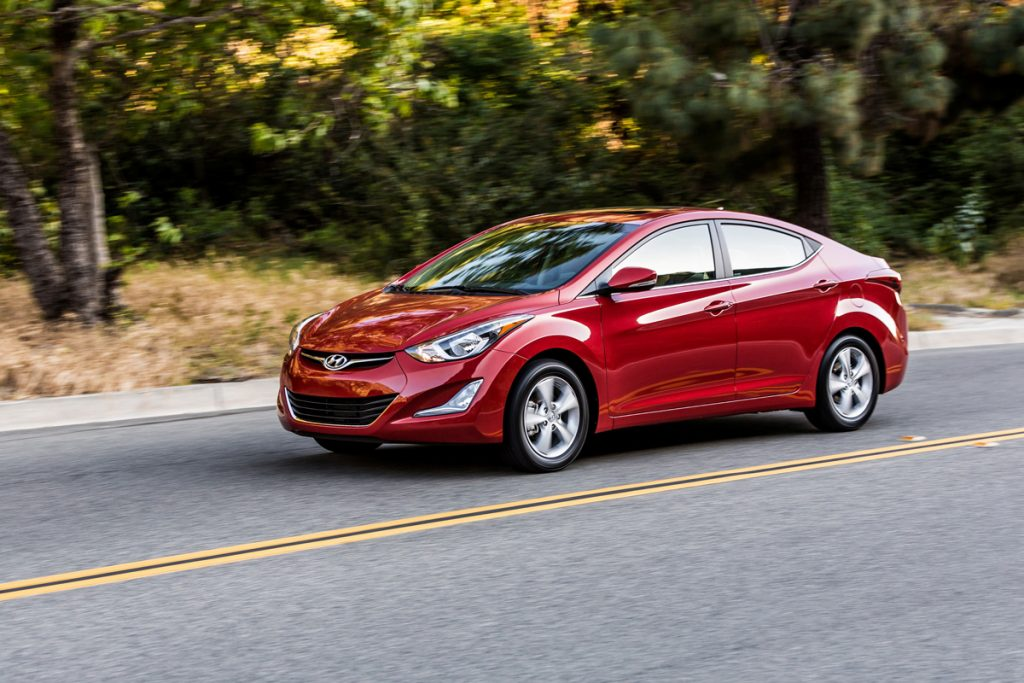 Frank Washington says that even though the engine was a little loud on the 2016 Hyundai Elantra, it is still a good, comfortable ride. (Hyundai)