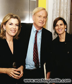 Kathleen and Chris Matthews with Claire Shipman