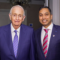 Bill Marriott and Raj Patil at th first annual HBS Club of Washington DC Leadership Awards Gala at the Ritz Carlton Hotel in Washington June 11, 2015 (Photo by Tony Powell)
