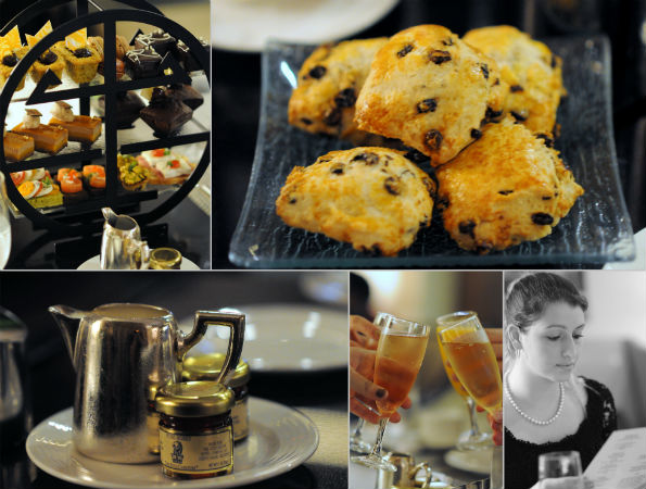 Snapshots of Afternoon Tea in the Fyve Lounge. (Photos by Laura Wainman)