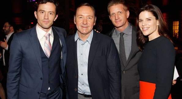 The House of Cards cast at the Season Four premiere