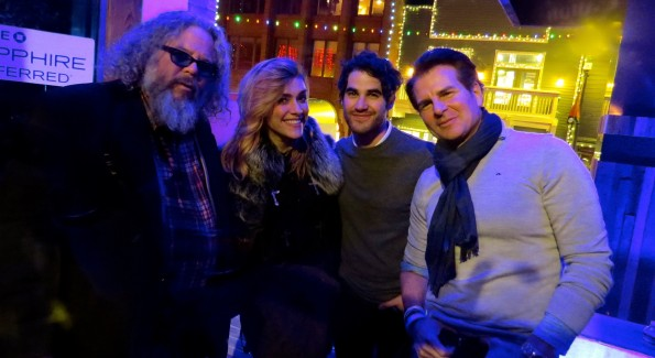Photos by Liz H Kelly At the 2016 Sundance Film Festival, Mark Boone Jr (The Birth of a Nation) and Justin Long (Yoga Hosers) with actor Vincent De Paul.
