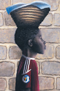 """Schneider"" by Brenna Newberry is one of two winning works depicting Haiti. (Image courtesy of The Liberty High School Bell)"