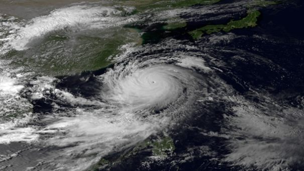 This image was taken by the Japan Meteorological Agency's MTSAT-2 satellite at 0730Z on September 20, 2013. (NOAA)