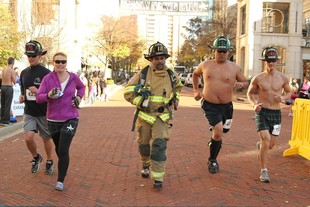 Firefighters finish the race. (Potomac River Running)