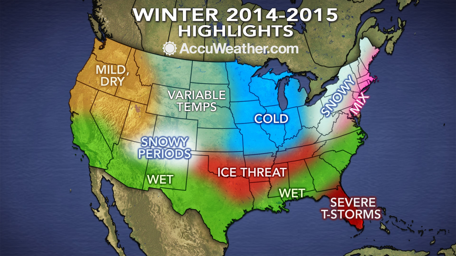 Highlights of the Accuweather winter outlook. (Accuweather.com)
