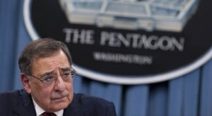 Leon Panetta at Pentagon press conference (Saul Loeb/AFP-Getty)