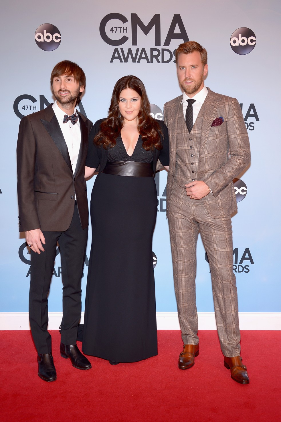 Dave Haywood, Hillary Scott and Charles Kelley of Lady Antebellum. (Photo by Michael Loccisano/Getty Images)