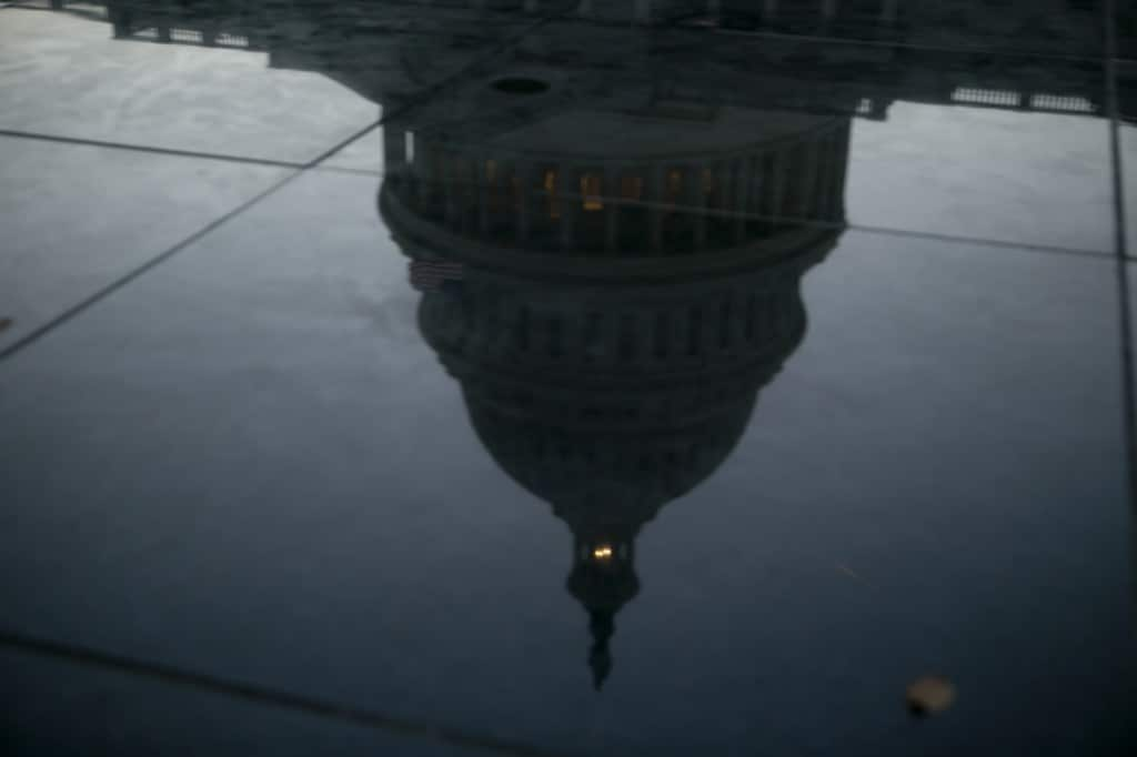Objects in politics may be more distorted than they appear. (Andrew Harrer/Bloomberg)