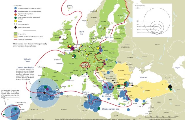Click to enlarge. Data source: UNITED For Intercultural Action (Olivier Clochard/Migrinter)