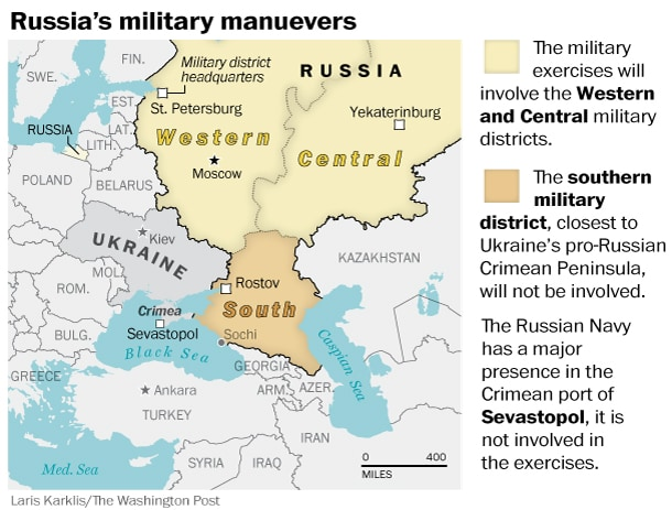Russia military map Crimea