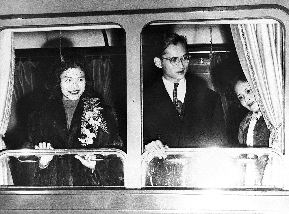 Thai military hastily staged a coup in 1957 while King Bhumibol and his family were returning from Switzerland. (AP)
