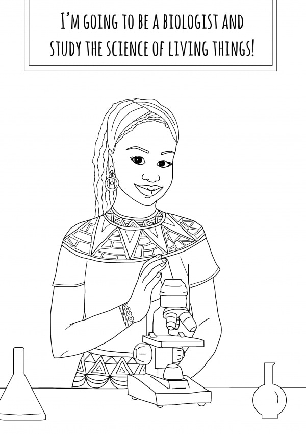 she wanted to empower young girls so she made this coloring book
