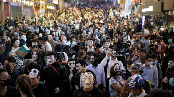 Halloween in Hong Kong brings a surreal mash-up of partygoers ...