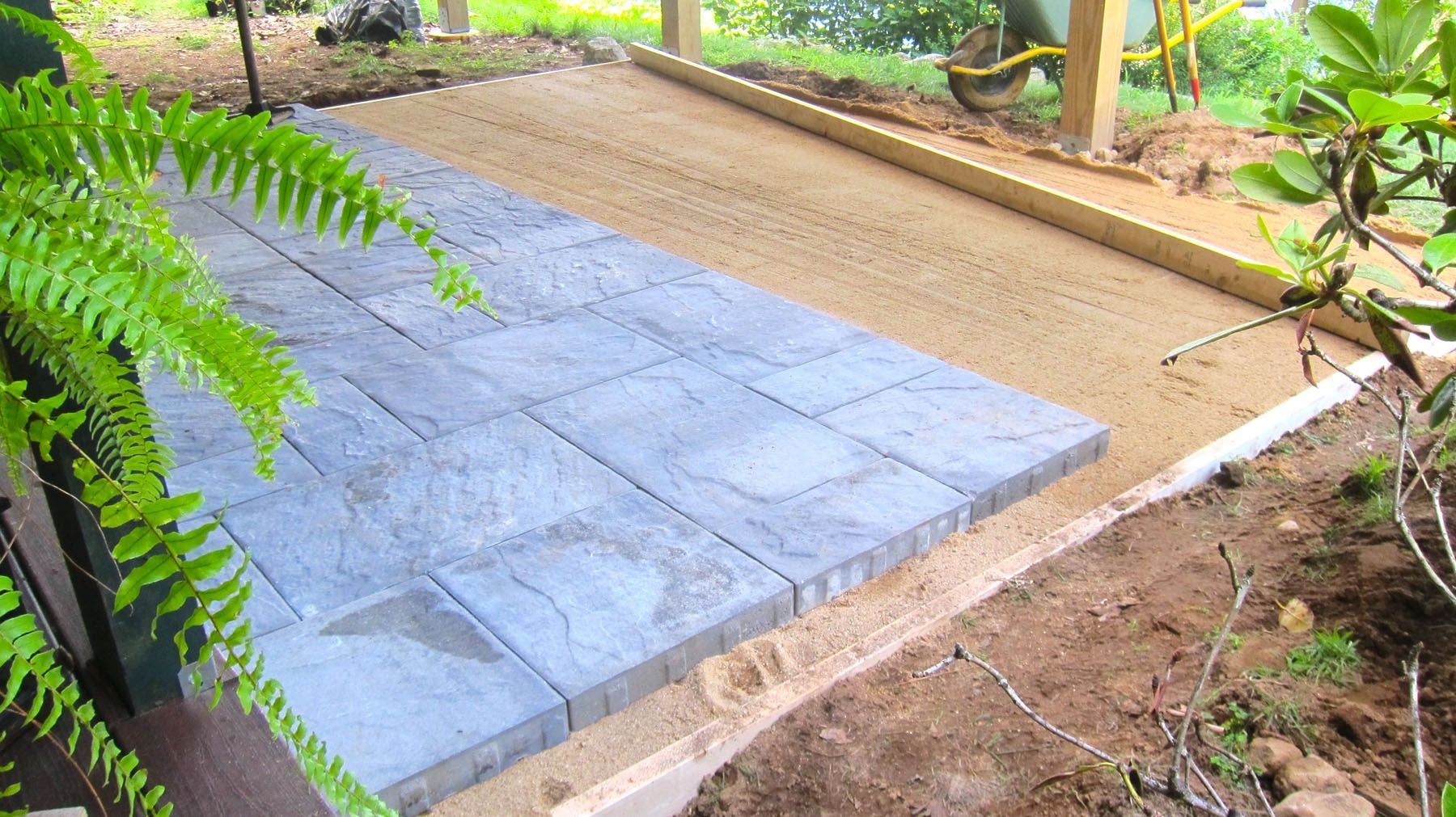 installing patio pavers is not as tough