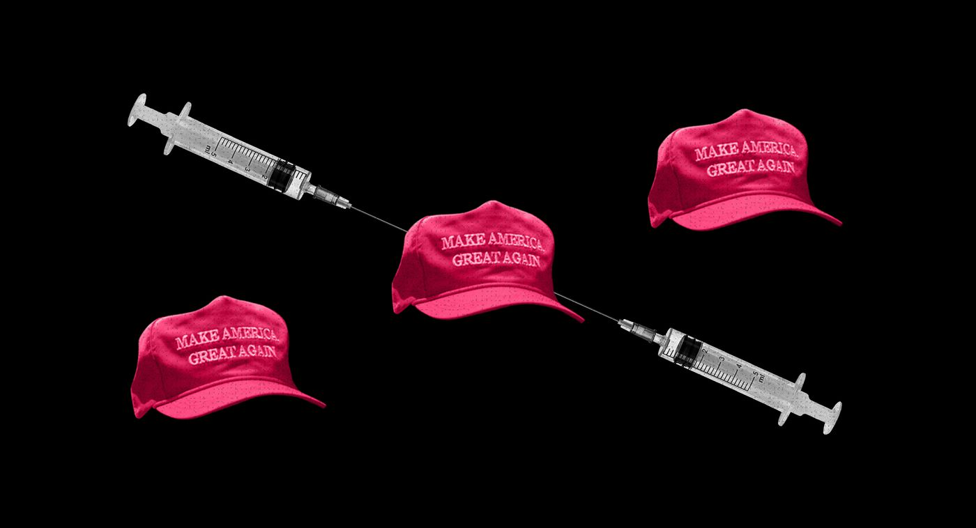 49% of Republican men say they won't get vaccinated. These wives and daughters are on a mission to change their minds.