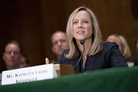 Trump CFPB nominee grilled by Senate Democrats   The Washington Post Kathy Kraninger  the president s nominee for director of the Consumer  Financial Protection Bureau  spoke with members of the Senate Banking  Committee during