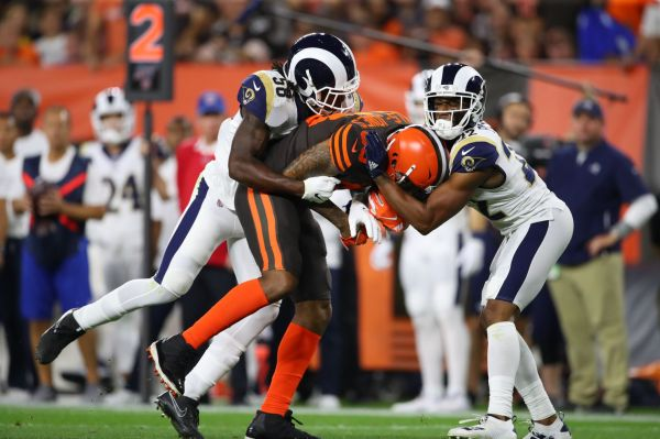 Browns-Rams live updates: All tied up after a sluggish start in Cleveland