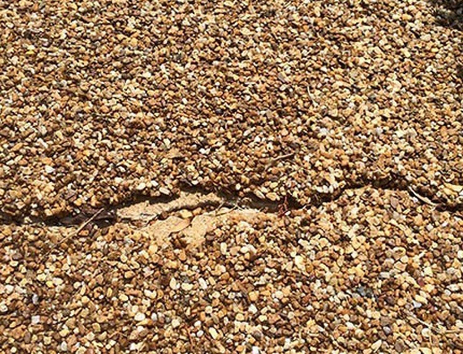 how to repair a pebble walkway the