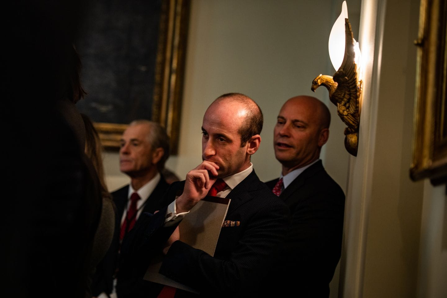 Miller listens as President Trump speaks during a Cabinet meeting at the White House on Nov. 19, 2019. (Salwan Georges/The Washington Post)