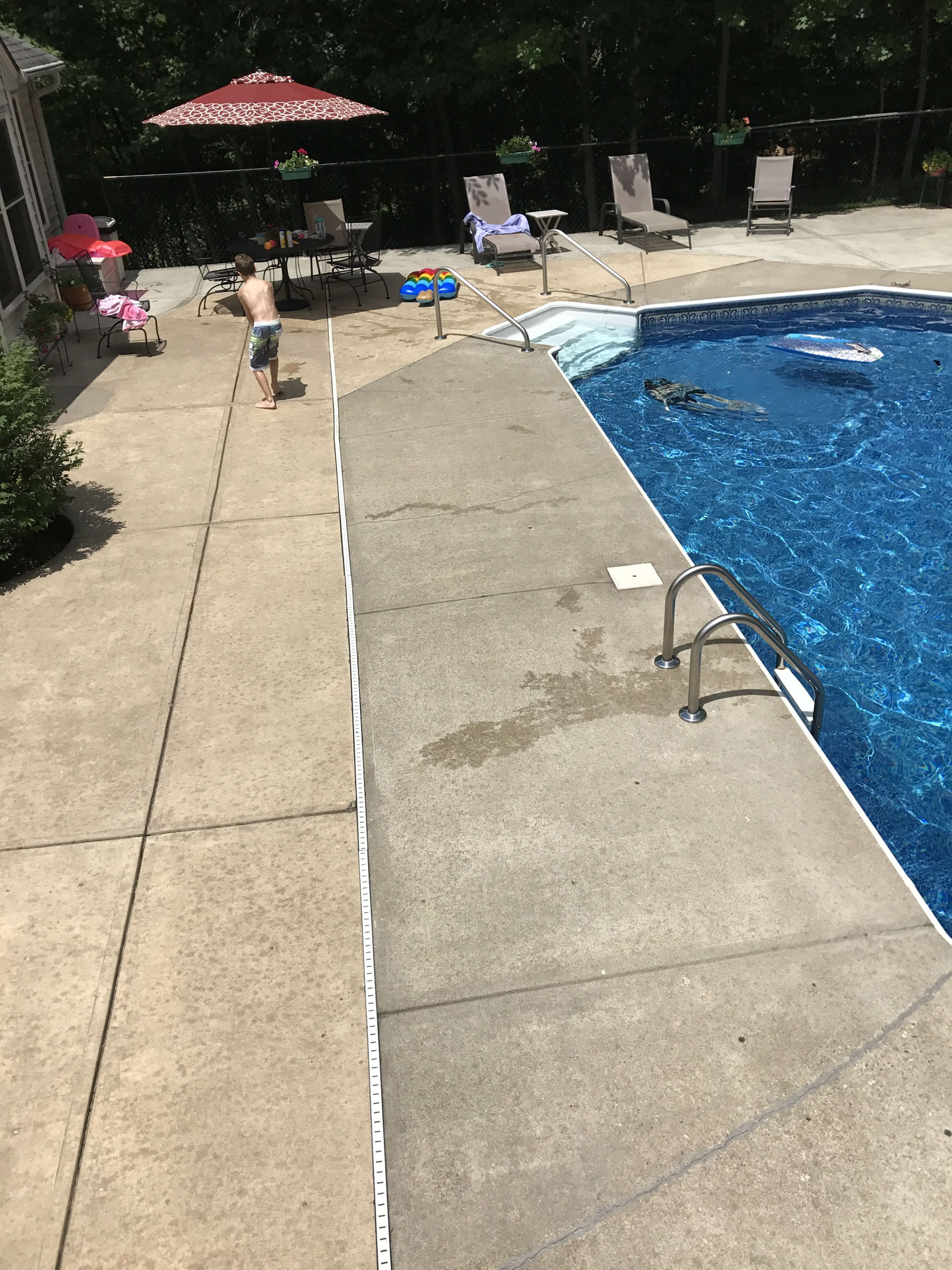 properly stain your concrete patio