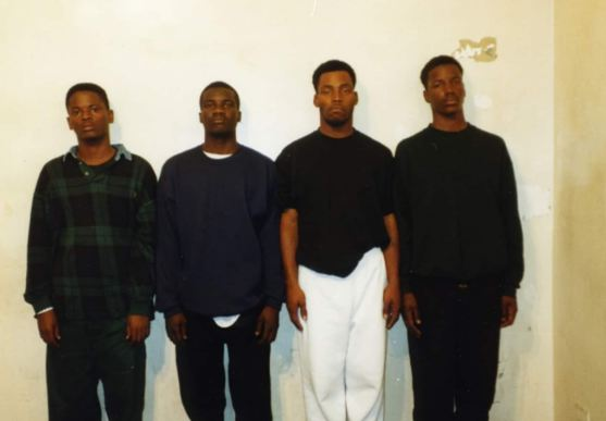 Lamar Johnson, in the white pants, is pictured in a 1994 photo lineup.  (Lamar Johnson, in the white pants, is pictured in a 1994 photo lineup. St. Louis Circuit Attorney)