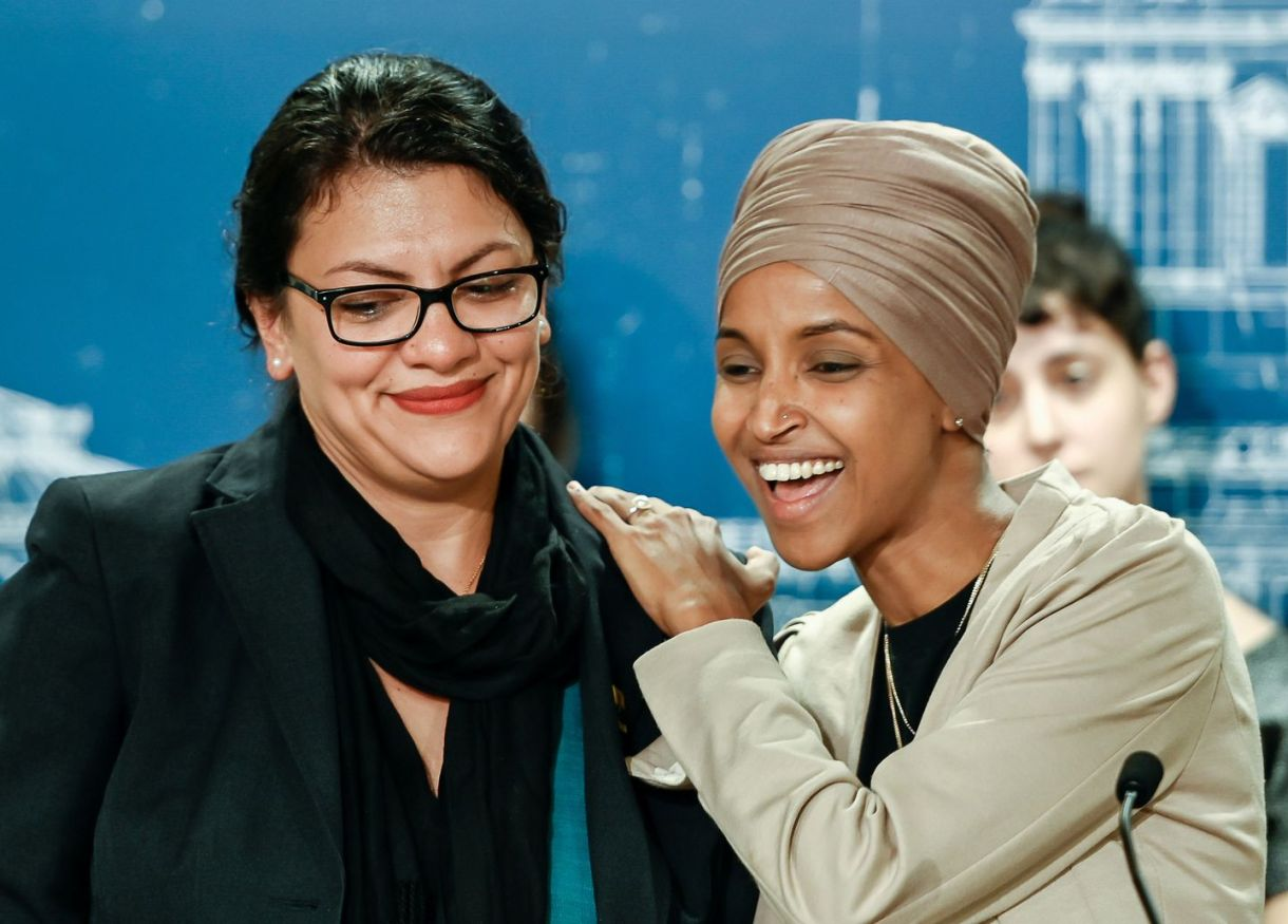Reps. Rashida Tlaib (D-Mich.) and Ilhan Omar (D-Minn.), shown in August, were prevented from entering Israel because of their support for the Boycott, Divestment and Sanctions movement. (Caroline Yang/Reuters)