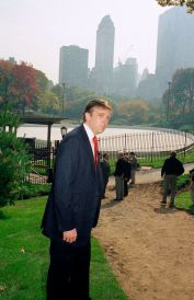 Donald Trump stands in front of the Wollman Skating Rink in October 1986. (Mario Suriani/AP)