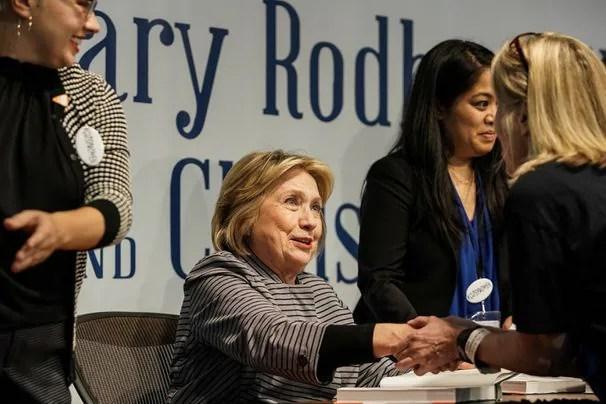 Hillary Clinton suggests Putin has kompromat on Trump, Russia will back Tulsi Gabbard third-party bid