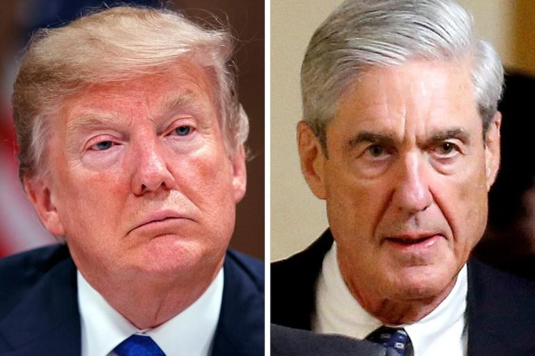 President Trump (Evan Vucci/Associated Press); Robert Mueller (Joshua Roberts/Reuters)