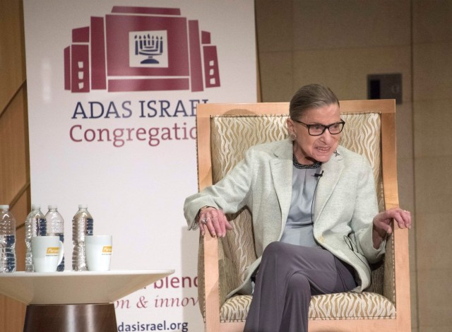 Ruth Bader Ginsburg calls for equal rights amendment to the Constitution