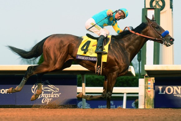 Watch American Pharoah win horse racing's first-ever Grand ...