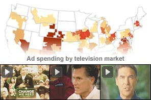 Watch the latest campaign ads and track ad spending