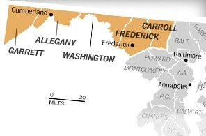 Maryland counties considering secession
