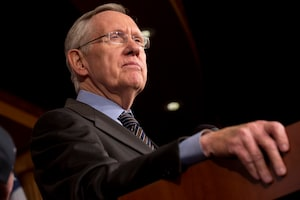 Senate Majority Leader Harry Reid of Nev. pauses during a news conference on Capitol Hill in Washington, Thursday, Nov. 21, 2013, after the Democrat majority in the Senate pushed through a major rules change, one that curbs the power of the Republican minority to block President Barack Obama's nominations for high-level judgeships and cabinet and agency officials. (AP Photo/Jacquelyn Martin)