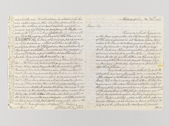 17th century letter from George Washington to David Stuart
