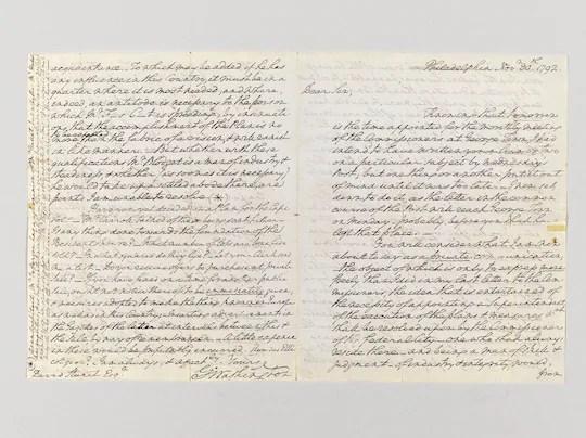 17th century letter from George Washington to David Stuart