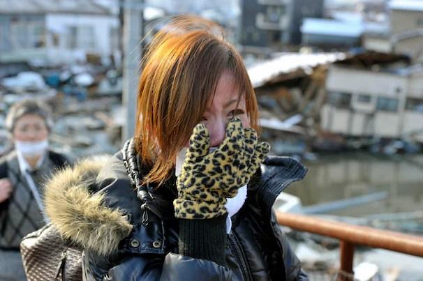 Weeping Japanese woman