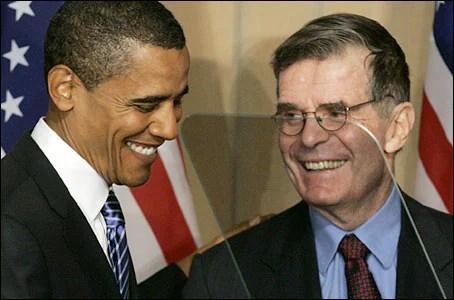 Barack Obama and Ted Sorensen