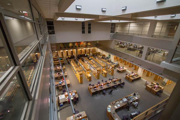 WCC's Bailey Library interior